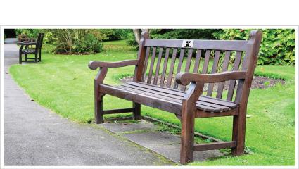 WebLink on a memorial bench